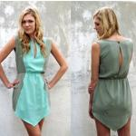 ELLEN DRESS Style #1160 100% Silk Size:  XS-L Color:  *Cactus/Turquiose - Cactus/Shell - Shell/Ivory